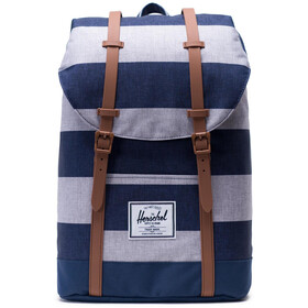 Herschel Retreat Rygsæk 19,5l, border stripe/saddle brown